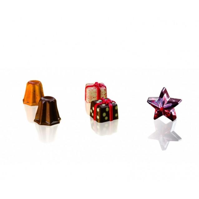 "Форма для конфет ""Звезда"", 40х42 мм, h-16 мм (15 шт)"